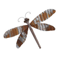 Classy Corrugated Dragonfly Wall decor by IMAX