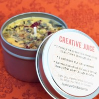 CREATIVE JUICE Candle - Spark Your Creativity - Writing, Poetry, Music, New Projects