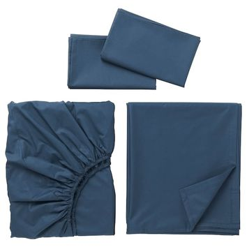 ULLVIDE Sheet set - dark blue - IKEA