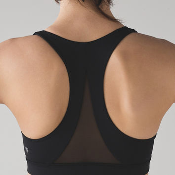 lululemon丨Invigorate Women's Run Yoga Sport Bra - Black