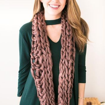 Don't Be A Yarn Chunky Scarf