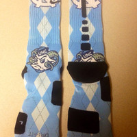"University of North Carolina ""UNC"" Nike Elite socks"