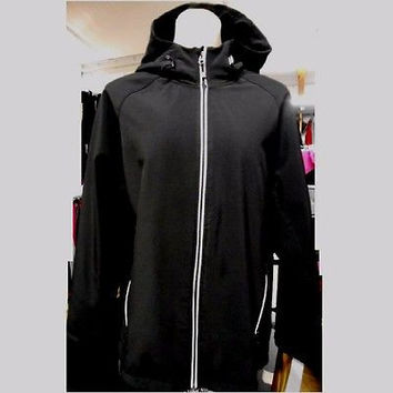 C9 Champion Women's Fleece Lined Soft Shell Hooded Jacket, Large, Black