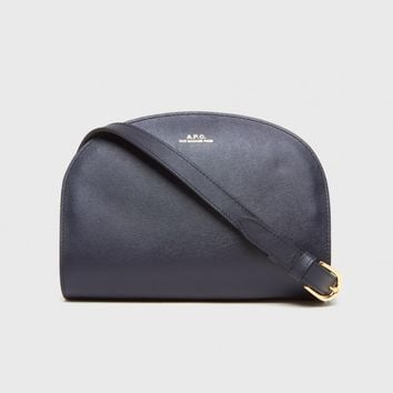 A.P.C. Half Moon Bag in Dark Navy | The Dreslyn