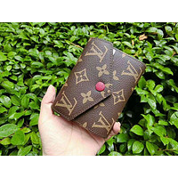 LV Louis Vuitton Popular Women Shopping Leather Handbag Tote Buckle Wallet Bag Purse I