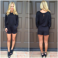 Duffy Jersey Romper - BLACK