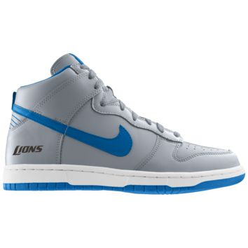 Nike Dunk High (NFL Detroit Lions) iD Men's Shoe