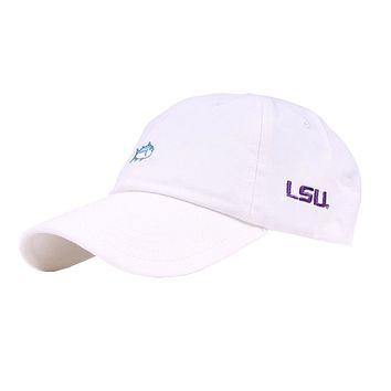 LSU Gameday Skipjack Hat in White by Southern Tide