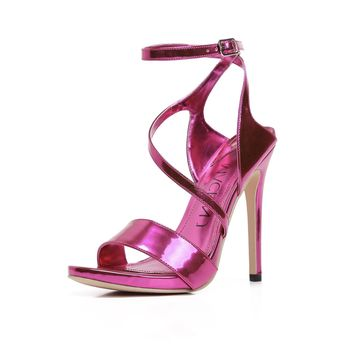 Metallic Nights Ankle Strap Heel
