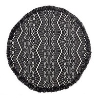 Black and White Ikat Rug