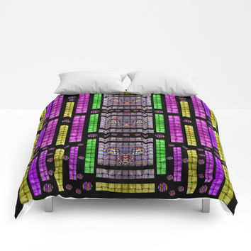 This is a cartoon circle mouse Comforters by Pepita Selles