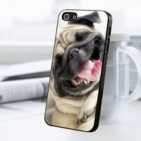 Smile Pug Dog iPhone 5 Or 5S Case