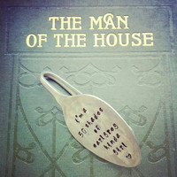 Vintage Hand Stamped Teaspoon Book Mark/Page Clip - I'm A Fifty Shades Of Earl Grey Kinda Girl