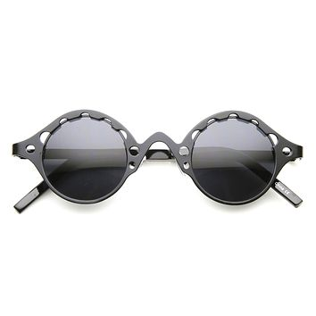 Vintage Inspired Steampunk Round Chain Frame Sunglasses 9579
