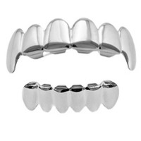 The God or Guns Silver Style Vampire Grill Set