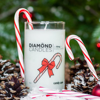 Candy Cane Ring Candle