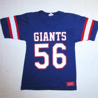Vintage Rare 80s LAWRENCE TAYLOR GIANTS Number 56 New York Football Unisex Small Amazing Super Bowl Rawlings 50/50 Sports Jersey