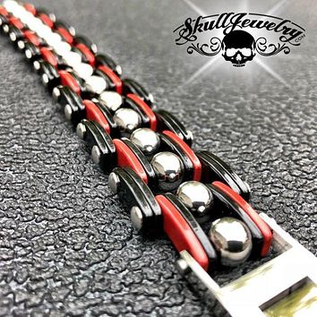 RED 'Opposites Attract' Steel Bracelet (813RED)