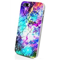 Galaxy Nebula for All Cracked Custom Case for Iphone 5/5s/6/6 Plus (White iPhone 5/5s)