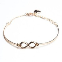 Brandy ♥ Melville |  Gold Infinity Chain Bracelet - Accessories