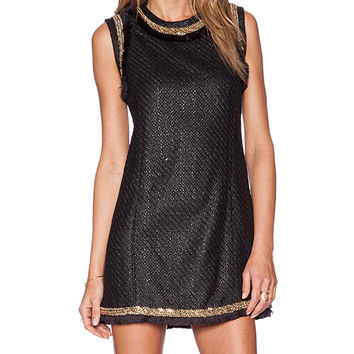 RACHEL ZOE Blanca Sheath Dress in Black