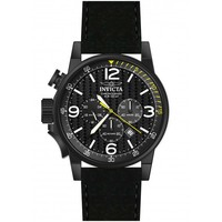 Invicta 20140 Men's I-Force Chronograph Lefty Black Dial Black Strap Watch