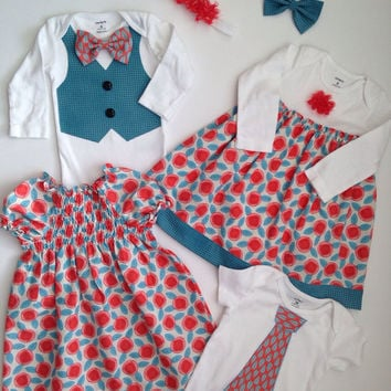 Sibling Outfits for Spring, Sibling Easter Outfits, Matching Sibling Outfits, Brother Sister Outfit,