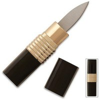 Lipstick Knife - Black & Gold - Covert Hidden Blade