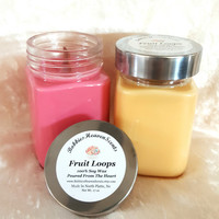 Fruit Loops Scented Candles, Scented Candles, Home Decor, Gifts, Handcrafted Candles, Fruity Scented Candles, Container Candles