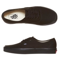AUTHENTIC SHOES BY VANS IN BLACK/BLACK
