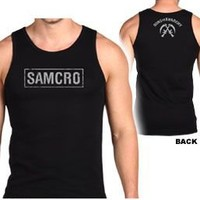 Sons of Anarchy Samcro Boxed Logo Black Mens Tank - Sons of Anarchy - | TV Store Online