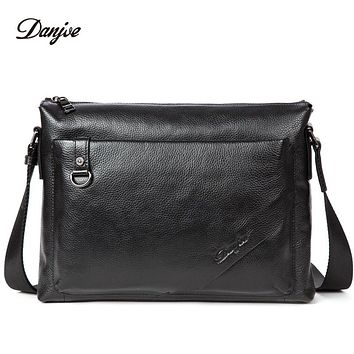 Men Messenger Bag Genuine Leather Male Shoulder Bag Trendy Business Bag For Man Horizontal Classic Crossbody Bag