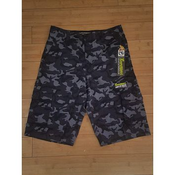 "Ocean Current ""The Amphibious"" Camo Hybrid Boardshorts"