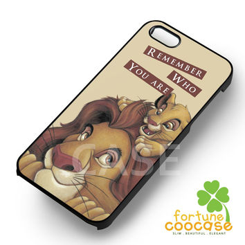 Disney Lion King Simba Mufasa Remember Who You Are -sddh for iPhone 6S case, iPhone 5s case, iPhone 6 case, iPhone 4S, Samsung S6 Edge