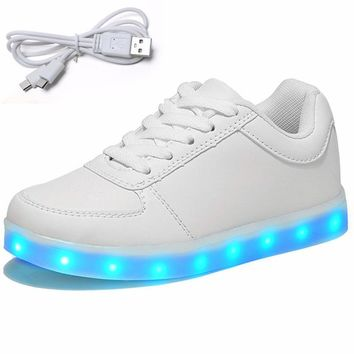USB Charge LED Shoes with Light Children Shoes Kids Luminous Sneakers for Girl Boy Women Sneakers