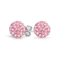Bling Jewelry Pink Princess Studs