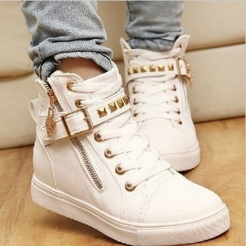 Leisure Natural Rubber women sneakers women boots running shoes woman pattern candy color women's skateboarding shoes = 1958507780