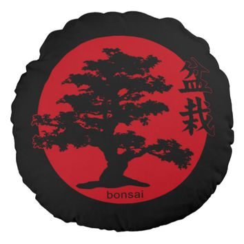 Bonsai Round Pillow