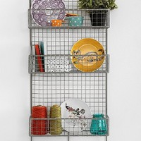 Industrial Cage Wall Shelf