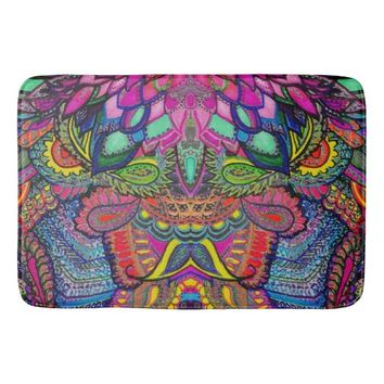 Allusion, Illusion Bath Mat Kaleidoscope Colorful