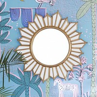 Justina Blakeney Gilt Sun Shaped Mirror