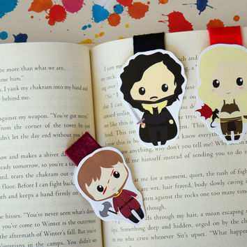 Game of thrones magnetic bookmark Tyrion Jon Snow Khalessi