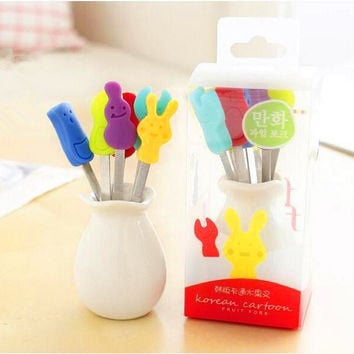 Korean Creative Cartoons Style Fruits Stainless Steel Pottery Set [6283291974]