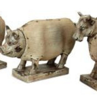 3 Farm Animal Figures - Cow, Sheep And Pig