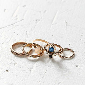 Solstice Stone Ring Pack - Urban Outfitters