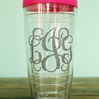 Personalized Insulated 22 oz Tumbler with Monogram