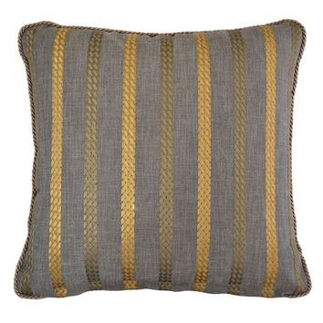 Pre-owned Century Furniture Woven Braid Pillow 20 x 20