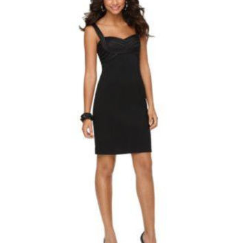 JS COLLECTIONS JS COLLECTIONS DRESS, SLEEVELE BLACK 10