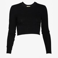 torn by ronny kobo Crop Long Sleeve Tee:Black | Shop IntermixOnline.com