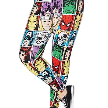 Plus Marvel Super Heroes Comic Legging